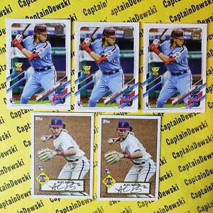 LOT of 5! ALEC BOHM 2021 Topps #62 & Redux Insert #T52-14 RC / Rookie Cards 🔥⚾️