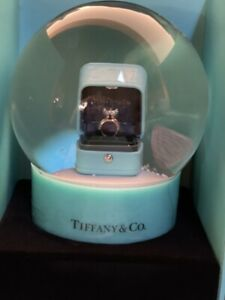 Tiffany Luxury Snow Globe With Ring Box Inside a Special Collectible VIP Gift