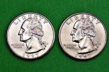 1997 P & D  BU Mint State Washington US Quarters  ( 2 Coins )