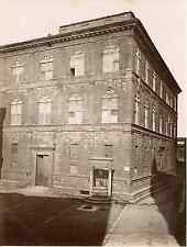 Lombardi. Italie, Siena, palazzo Piccolomini Vintage albumen print Tirage albu