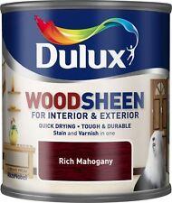 Dulux Stain & Varnish Interior & Exterior Woodsheen 250ml - Rich Mahogany