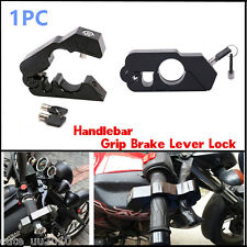 CNC Motorcycle Aluminum Handlebar Grip Brake Lever Throttle Security Lock Black