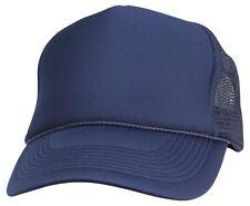 Trucker Hat Baseball Cap Mesh Retro Caps Blank Plain Hats AND Kid's Youth's Caps