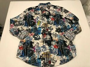 NWT $278.00 Robert Graham Mens Delton Buttondown Multi Floral Embroidered XL