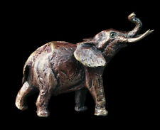 Elephant, Detailed Solid Bronze Miniature By Butler and Peach, Richard Cooper