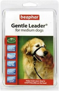DOG HARNESS Beaphar Gentle Leader Head Collar FOR PET STOPS PULLING.