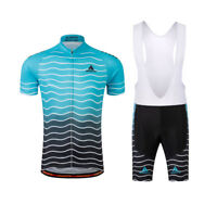 Men's Biking Kit Short Sleeve Cycling Jersey and (Bib) Shorts Padded Set S-5XL