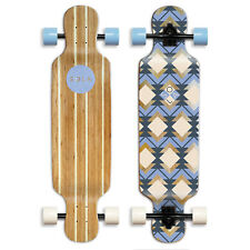 SOLA Bamboo Graphic Complete Longboard Skateboard - 36 to 38 inch  (Geometry)