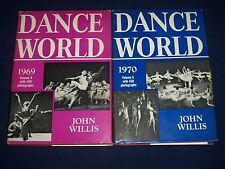 1969-1970 DANCE WORLD BOOK BY JOHN WILLIS VOLUME 4 & 5 - GREAT PHOTOS - KD 2113