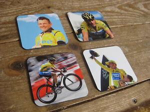 Lance Armstrong Tour de France Great Drinks Coaster Set