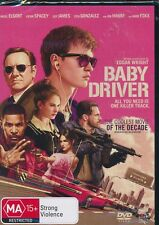 Baby Driver DVD NEW Region 4 Kevin Spacey Ansel Elgort Jamie Foxx