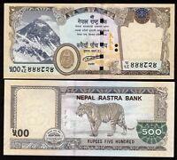 500 Nepal Rupee Bank Notes 2019 Mt. Everest, Tiger