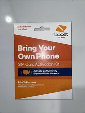 New listing Boost Mobile Bring Your Own Phone Sim Card Activation Kit New! Fast Shipping!