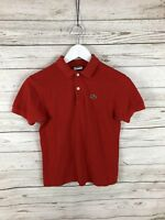 LACOSTE Polo Shirt - Size UK12 - Red - Great Condition - Women's