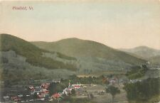 Pittsfield VT~Handcolored Aerial View of Church, Farms & Homes~1910 Postcard