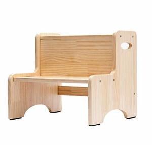 CoCoyes Wooden Toddler Step Stool for Kids, Two Step Stool for Bedroom, Children
