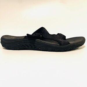 Skechers Black Sandals Outdoor Lifestyle Adjustable Strappy Open Toe Women SZ 10