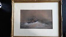 Dessin Barthélémy LAUVERGNE Le Styx corvette vapeur marine Algérie 1842 N°1