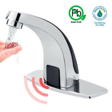 Chrome Touchless Sensor Faucet Automatic Hands Free Bathroom Cold Water Sink Tap