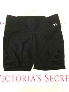 Victoria's Secret Pink Yoga Flat Shortie Short Pure Black NWT