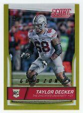 TAYLOR DECKER /99 2016 Panini SCORE ROOKIE GOLD ZONE #388     The Ohio State