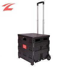 Einkaufstrolley Einkaufswagen mit Deckel Roller Klappbar Einkaufshilfe 45L 35KG