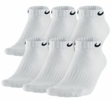 $74 Nike Men's 6-Pairs Pack White Low-Cut Athletic Ankle Socks Shoe 8-12