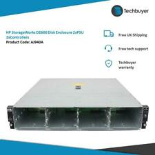More details for hp storageworks d2600 disk enclosure 2 x psu 2 x controllers - aj940a