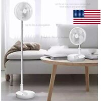 7200mAh Stand Fan Portable Folding USB Rechargeable Telescopic Table Floor Fan