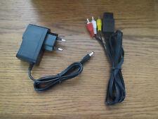 Av-cable cinch + fuente de alimentación para Super Nintendo SNES * nuevo *