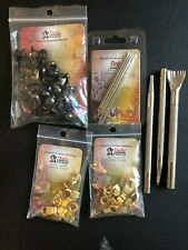 Tandy Leather Tool Assortment - Round Spots, Lace Hook Brass, Harness Needle