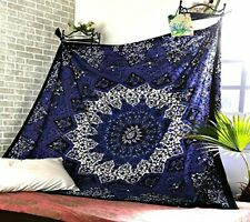 Queen Size Wall Hangings Mandala Cotton Tapestry Hippie Psychedelic Bedcover Art