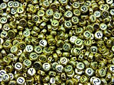 500 Pcs 7mm Random Mix 7mm Round Alphabet Letter Beads Kids Beading Crafts ML