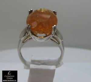 12.49 ct Rare Reddish Royal Imperial Topaz Gemstone Ring (Mine Depleted )