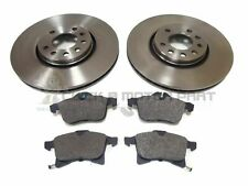 SAAB 9-3 TURBO 1998-2002 FRONT 2 BRAKE DISCS AND PADS SET NEW (308mm)