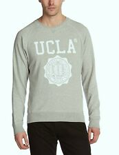 UCLA Lauther Mens Sweatshirt with Large Logo Grey UCSW1414 Sizes: XS - XL
