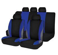 car seat covers set washable breathable lady blue fashion rear bench split 40/60
