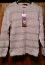 WOMEN'S BRAVE SOUL JUMPER_GIRLS_LADIES_size 10_ Grey sweater top