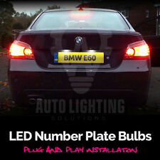 BMW E60 E61 SERIE 5 LED BIANCO XENON number Plate Light Bulbs UPGRADE * vendita *