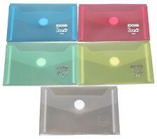 10x Dokumententaschen Umschläge Klettverschluss A7 farbig sortiert transparent