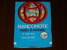BUSTINA FIGURINE BANCONOTE TUTTO IL MONDO - SIGILLATA !!