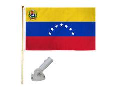 New listing 5' Wooden Flag Pole Kit W/ Nylon White Bracket 3x5 Venezuela 7 Star Poly Flag