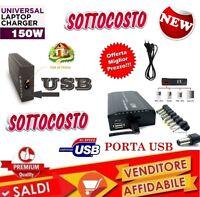 ALIMENTATORE UNIVERSALE USB 150W PC LAPTOP UFFICIO CASA NOTEBOOK USB 150W