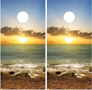 Beach Ocean Sunset #4 Cornhole Board Decal Wrap Wraps