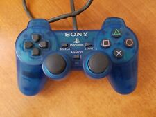 Official Sony Playstation 1 PS1 Transparent Clear Blue Controller Excellent cond