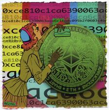 MR CLEVER ART THE KISSER #1 crypto ethereum blockchain street art urban pop art