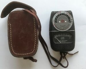 WORKING GE General Electric Type DW-68 light meter with leather case vintage OLD
