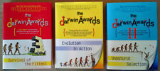 DARWIN AWARDS - EVOLUTION, UNNATURAL, SURVIVAL.. - (3) HARDBACK BOOKS - ONE LOT