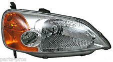 New Replacement Headlight Assembly RH / FOR 2001-03 HONDA CIVIC 4-DOOR SEDAN