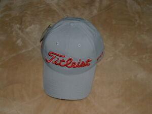 """New! Titleist Golf Hat! """"Tour Performance Grey"""" Cap! Choose Your Trim Color!"""